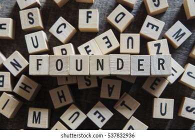 FOUNDER word concept