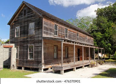 The Founders Home at the Koreshan State Historic Site in the city of Estero, Florida
