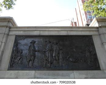 Founders Memorial, Boston Common, Boston, Massachusetts, USA
