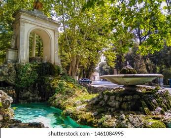Fountain of Aesculapius near Villa Borghese