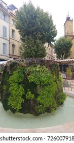 Fountain in Aix en Provence streets - France
