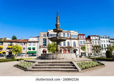 Fountain in the center of Braga, Portugal