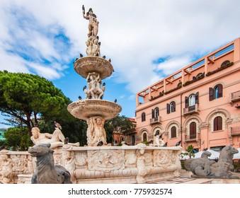 Fountain in the centre of Messina, Sicily