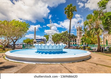 Fountain in city centre of Bridgetown, Barbados.