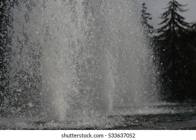 Fountain in a city Park, photographed in close-up.