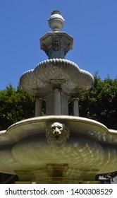 fountain close up plaza adelantado. la laguna. tenerife