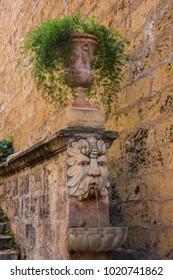Fountain in the Costa de la Seu street in Palma de Mallorca, Spain.