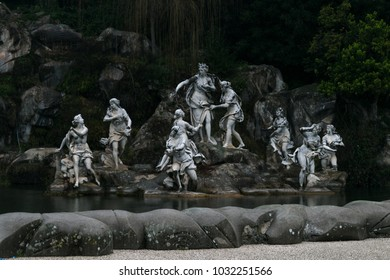 Fountain of Diana and Acteon, a large basin adorned with the famous group of Diana and Actaeon, sculpted by Paolo Persico, Pietro Solari and Angelo Brunelli.