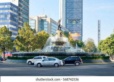 The Fountain of Diana the Huntress at Paseo de la Reforma in Mexico City