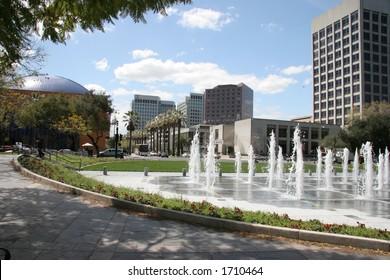 Fountain in downtown San Jose