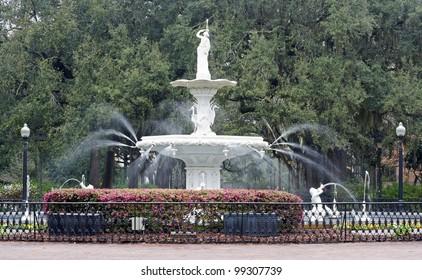 The fountain in Forsythe Park, Savannah, Georgia