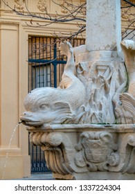 Fountain of Four Dolphins or Fontaine des Quatre-Dauphins, symbol of the Mazarin Quarter, was built in 1667 and was originally called Fontaine Saint-Michel