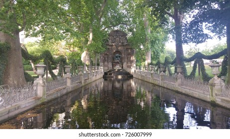 Fountain in Garden of Luxembourg- Paris (France)