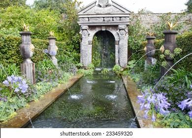 Fountain in the gardens of Arundel castle