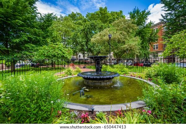 Fountain Gardens Filter Square Philadelphia Pennsylvania Stock