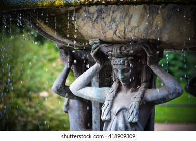 Fountain greek goddess Diana in Hyde park, London