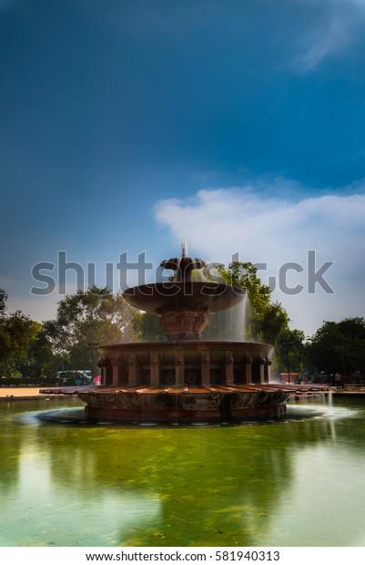 Fountain at India Gate, New Delhi, India
