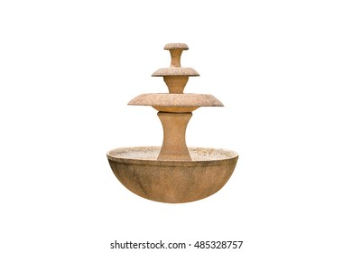 fountain isolated on white background