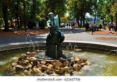 Fountain of Kalemegdan Park in Belgrade, Serbia