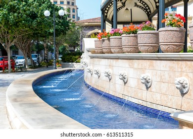 Fountain in Medina Centrale district on the Pearl in Doha, Qatar