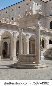 Fountain in Monte Cassino Monastery, Italy