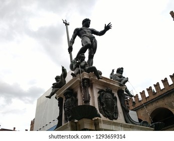 The Fountain of Neptune at Piazza del Nettuno, Bologna, Italy