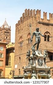 Fountain of Neptune,Palazzo Re Enzo, Piazza Del Nettuno, Bologn