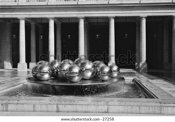Fountain at Palais Royal, Paris