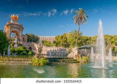 Fountain of Parc de la Ciutadella in Barcelona, Spain.
