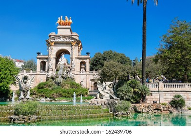Fountain at Parc de la Ciutadella. Barcelona, Spain