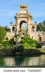 Fountain in Parc de la Ciutadella; the famous public park in Barcelona, Spain.
