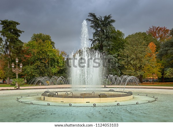 Fountain Park Jardin Du Grand Rond Stock Photo (Edit Now ...