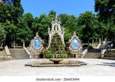 Fountain in Parque de Santa Cruz, Coimbra (Portugal)