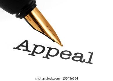 Fountain pen on appeal
