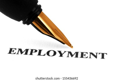 Fountain pen on employment