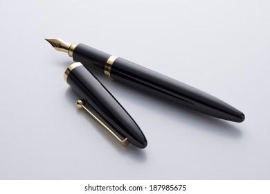 fountain pen on white