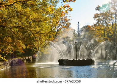 A fountain in Peterhof