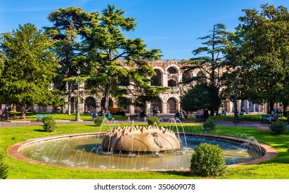 The Fountain in Piazza Bra - Verona, Italy