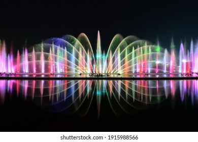 A fountain is a piece of architecture which pours water into a basin or jets it into the air to supply drinking water andor for a decorative or dramatic effect.
