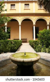 A fountain in the Real Alcazar in Seville.