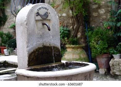 Fountain in Saint Paul, France