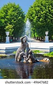 Fountain in Schonbrunn Palace, Vienna, Austria