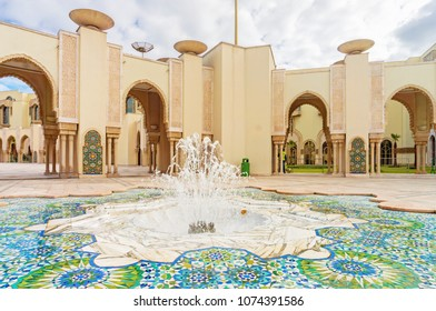 Fountain in Tower Mosque Hassan II in Casablanca, Morocco