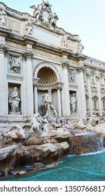The fountain of trevi in rome
