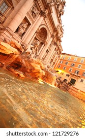 Fountain of Trevi in Rome, Italy, Europe.