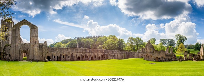 Fountains Abbey Ripon in North Yorkshire