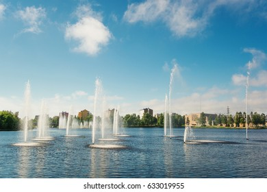 Fountains in Oulu (Finland)
