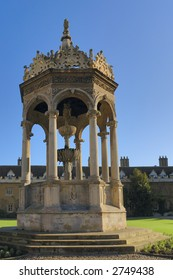 Fountain,Trinity College, Cambridge, England
