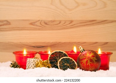 Four Advent Candles .