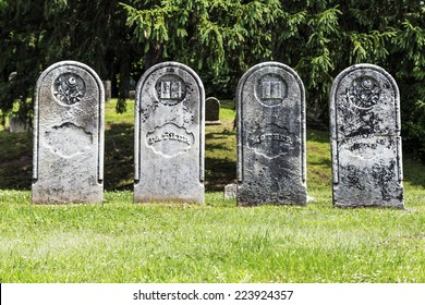 Four Antique Gravestones